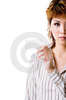 Business woman giving business Royalty Free Stock Photo