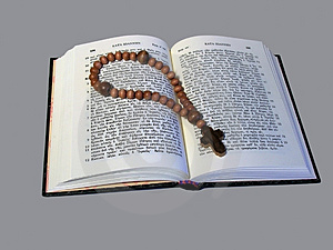 Rosary And Open Book Royalty Free Stock Photo - Image: 4582215