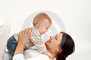 Happy mother with baby girl Stock Photo