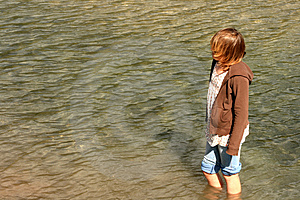 Wading In Stock Image - Image: 4587441