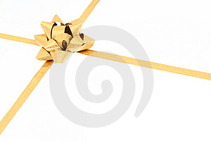 Gift golden bow Royalty Free Stock Image