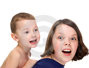 Brothers Play Stock Photography - Image: 4588402