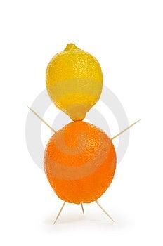 Orange And Lemon Royalty Free Stock Images - Image: 4588519