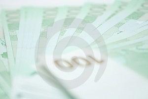 100 Eurossedlar Arkivfoto - Bild: 4591290