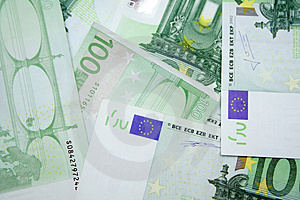 100 Euro Fotografie Stock - Immagine: 4591293