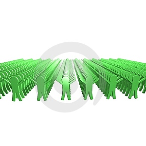 Conceptual Image Of Teamwork - 5. 3D Image. Royalty Free Stock Photos - Image: 4594668