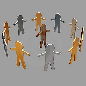 Conceptual image of teamwork - 6. Stock Images