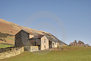 Dry Stone Wall And Barn Stock Image - Image: 4599001