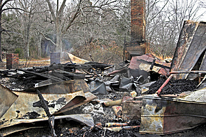 House Fire 3 Royalty Free Stock Photo - Image: 460065