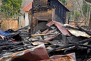 House Fire 4 Stock Photography - Image: 460082