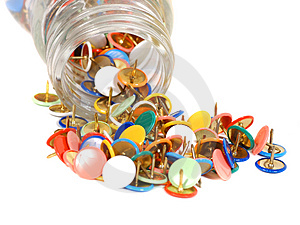 Push Pins Royalty Free Stock Photography - Image: 461047