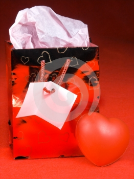 Gift Bag Heart Royalty Free Stock Photos - Image: 461718