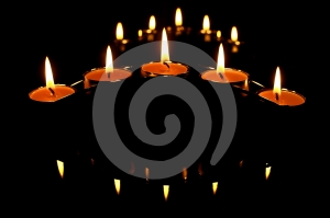 Candles And Reflections Stock Photos - Image: 463993