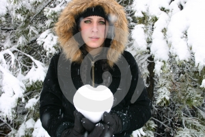 Sad Girl Holding Heart Royalty Free Stock Photos - Image: 467748