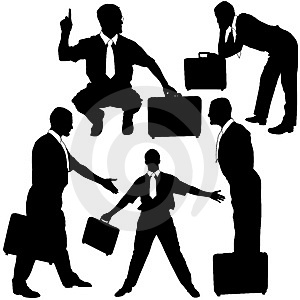 Manager With Briefcase - Silhouettes Stock Image - Image: 4606731