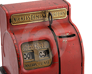 Isolated Vintage Coin Bank Royalty Free Stock Image - Image: 4612256