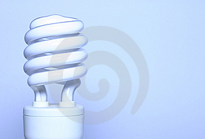 Energy saver - blue light bulb Royalty Free Stock Photos