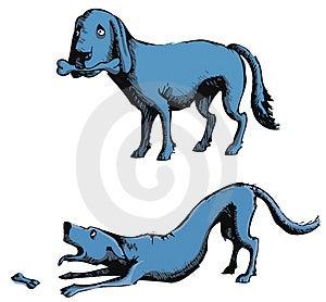 Dog With Bone Stock Images - Image: 4617454