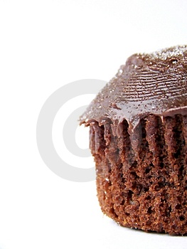 Iced Chocolate Cupcake, Right Royalty Free Stock Images - Image: 4618469