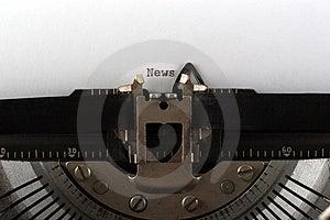 Typewriter Typing News Royalty Free Stock Photos - Image: 4623298