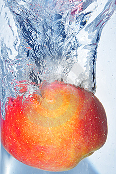 Splashing Apple Stock Photo - Image: 4623830