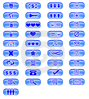 Icons 6 Royalty Free Stock Photos - Image: 4624248