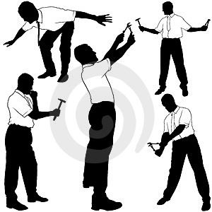 Business Service Silhouettes Stock Photography - Image: 4629312