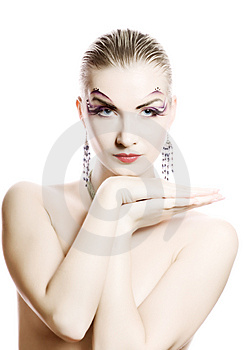 Woman With Creative Make-up Royalty Free Stock Photos - Image: 4632128
