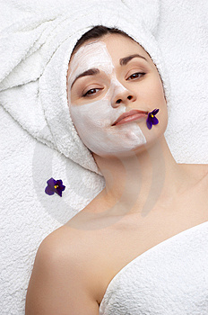 Beauty salon series: facial mask Free Stock Images