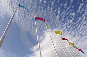 Colorful Flags Royalty Free Stock Photos - Image: 4644148