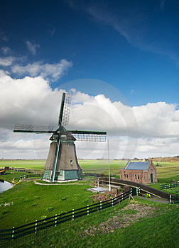 Windmill Landscape Royalty Free Stock Photos - Image: 4648558