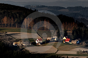 Farms In The Mountain Royalty Free Stock Photography - Image: 4649597