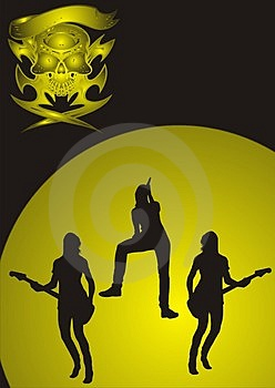 Girls Metal Band Royalty Free Stock Photo - Image: 4652055