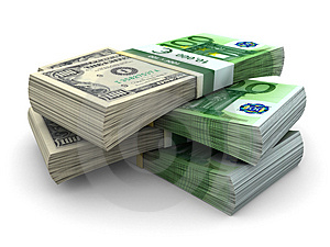 Stack Of 100 Eurodollar Stock Photography - Image: 4653262