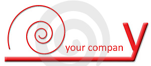 Company Logo - Ending Y Snail Version Stock Image - Image: 4655581