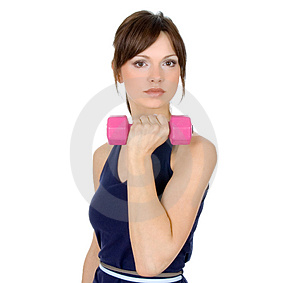 Fitness with weights Stock Photography