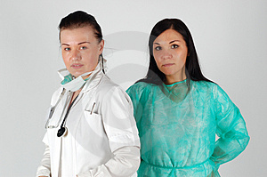 Equipe Fêmea Dos Doutores Foto de Stock Royalty Free - Imagem: 4658745