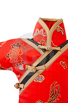 Detail Of Chinese Dress Royalty Free Stock Image - Image: 4665486
