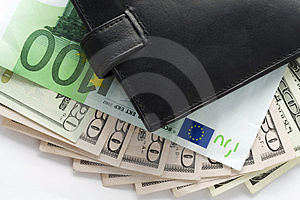Wallet and money Stock Images