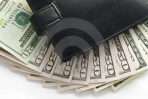 Wallet and money Stock Photography
