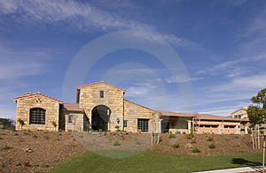Custom Home On A Slope Royalty Free Stock Images - Image: 4670549