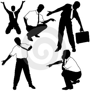 Businessman As Model Silhouettes Royalty Free Stock Images - Image: 4671369