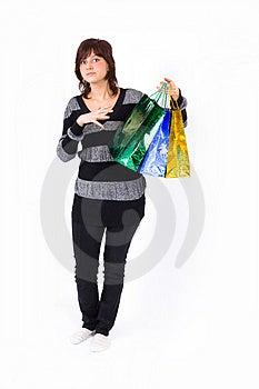 Young Shopping Girl Magic Trick Stock Image - Image: 4671561
