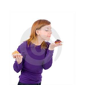 饮食的女孩 图库摄影 - 图片: 4671732