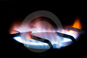 Natural gas burner 2 Stock Photo