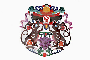 Chinese Cloth Art Paper-cut Stock Photo - Image: 4676120