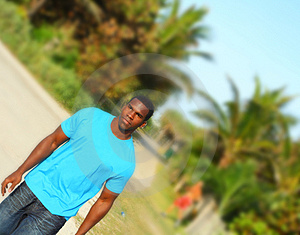 Black Man Walking Stock Photography - Image: 4678142