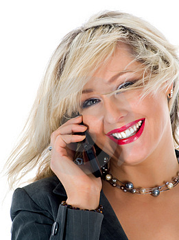 Business Woman  Calling Royalty Free Stock Photos - Image: 4680848