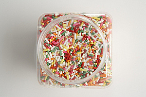 Sprinkles Jar Overhead Free Stock Photo