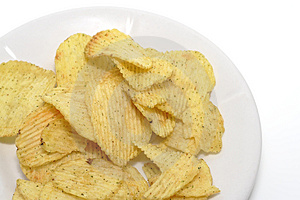 Chips On A Plate Royalty Free Stock Photo - Image: 4694425